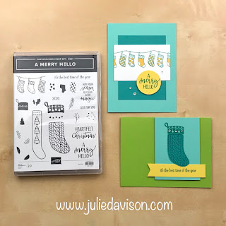 """16 Alternative """"Get & Go"""" Project Ideas ~ Stampin' Up! A Merry Hello  Cards ~  www.juliedavison.com #stampinup"""