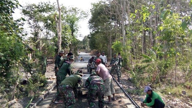Betonisasi Jalan Salah Satu Sasaran TMMD Sengkuyung di Pedan