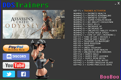 Assassin's Creed Odyssey Trainer Trainers + Cheats for PC
