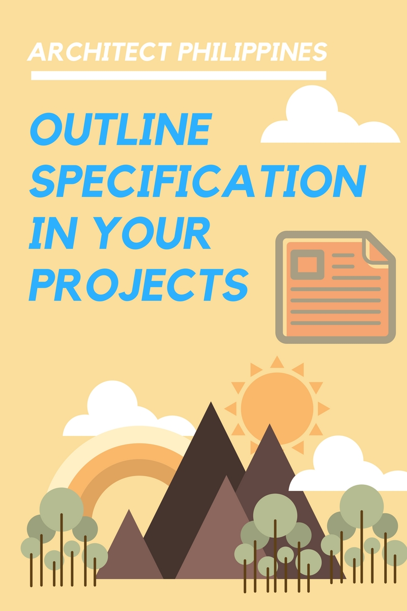 Architect Philippines Sample Of Outline Specification For Architects