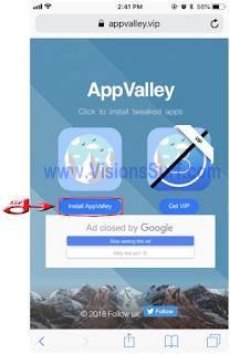 Pages d'accueil du site web AppValley.vip