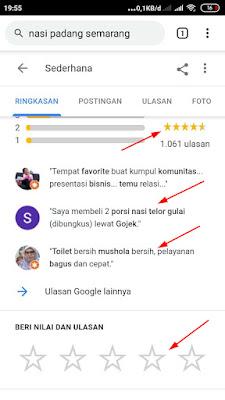 ulasan di google bisnisku