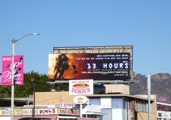 13 Hours movie billboard