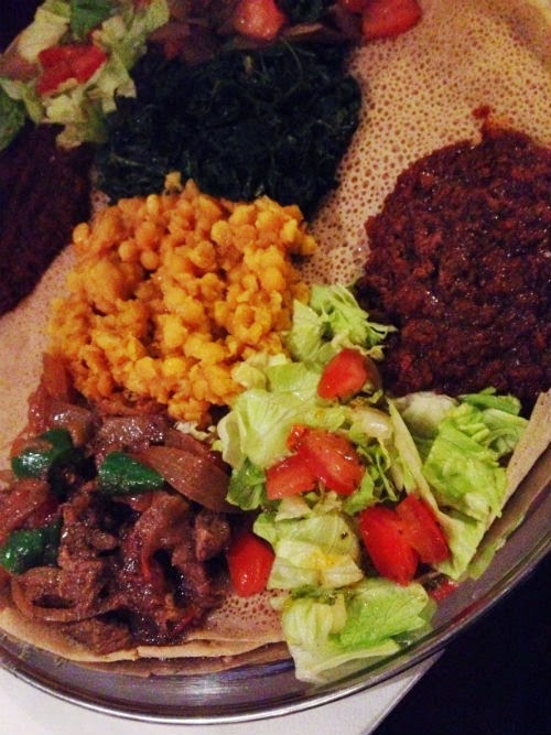 Eritrean Food at Mosob