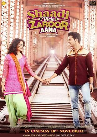 Shaadi Mein Zaroor Aana 2017 Full Hindi Movie Download HDTVRip 480p 300Mb