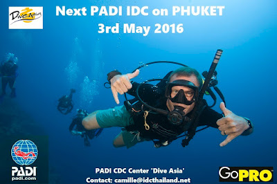 Next PADI IDC on Phuket, Thailand starts 3rd May 2016