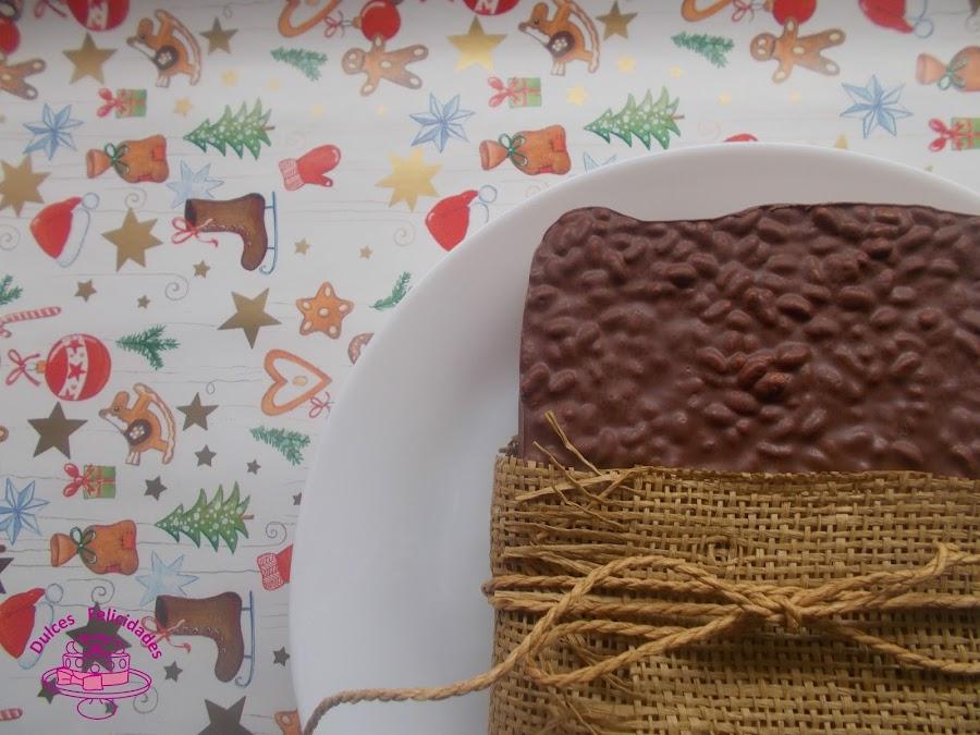 Turrón de chocolate y nutella casero