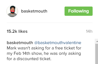 basketmouth instagram chat