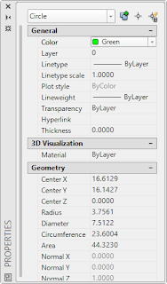 properties in autocad