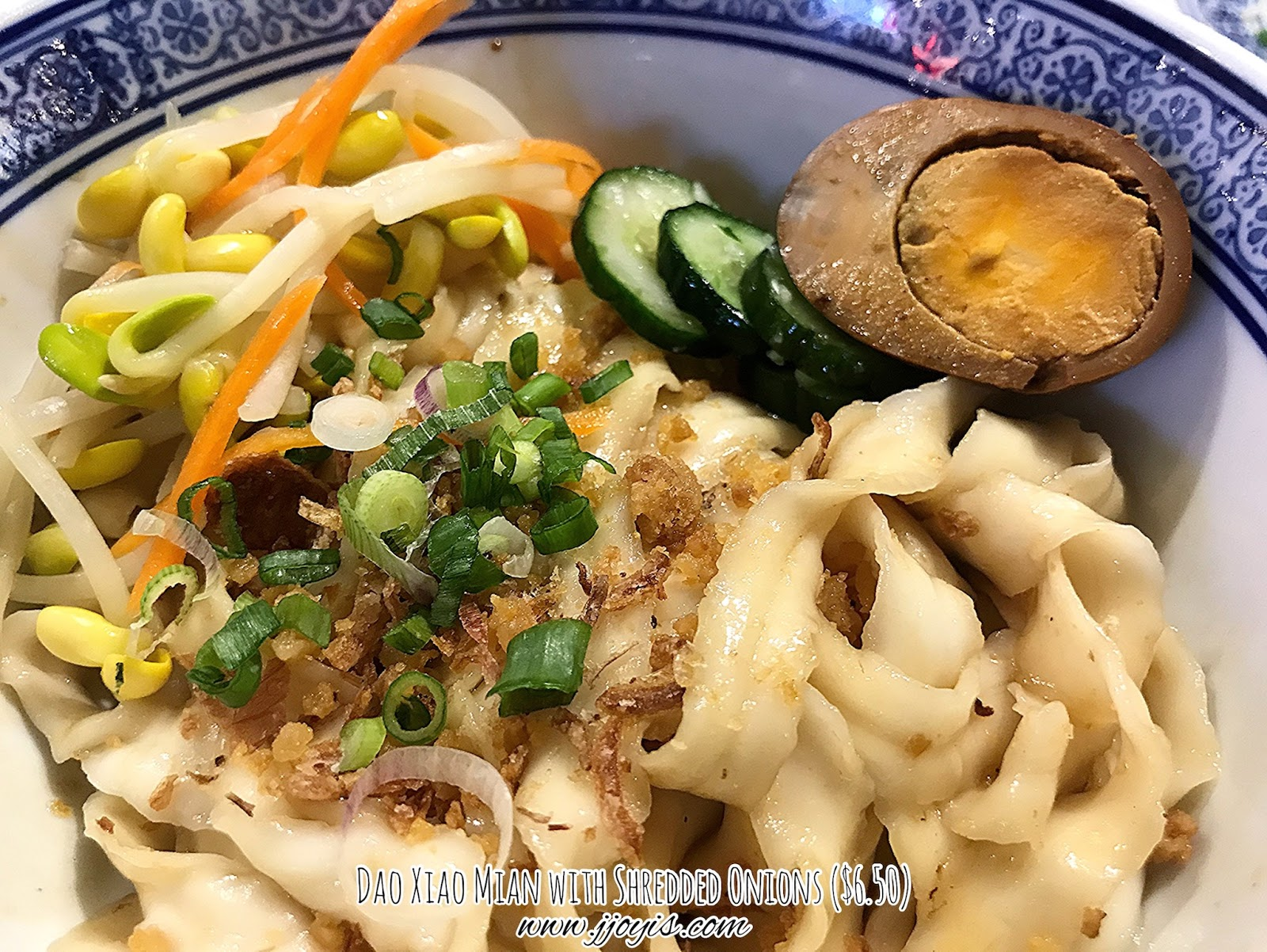 feng food dry noodles shredded onions dao xiao mian review northpoint food