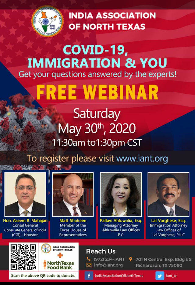 Free Webinar: Covid19 Immigration and You