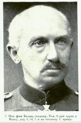 von Below, Inf.-General Commandant of the 8th Army, of the troops in Macedonia, later 6th. 14th. 7th and at last of the 1st Army.