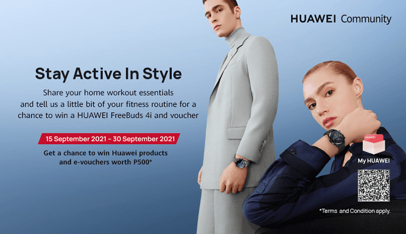 Huawei Stay Active in Style online contest