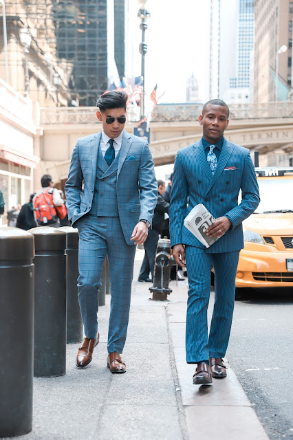 Wearing a Three Piece Windowpane Suit and Double-breasted Pinstripe Suit | Levitate Style and Men's Style Pro