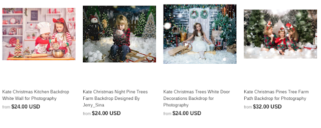 Holiday Photo Backdrops from KateBackdrop