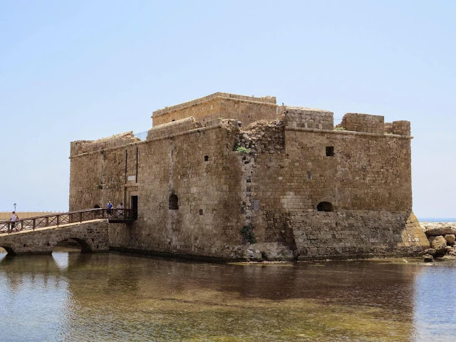 Cyprus Road Trip Itinerary: Castle of Paphos in the water of Paphos Harbour