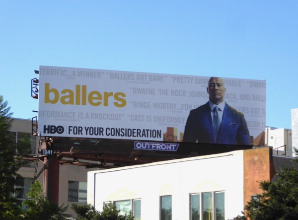 Ballers season 3 Golden Globes FYC billboard
