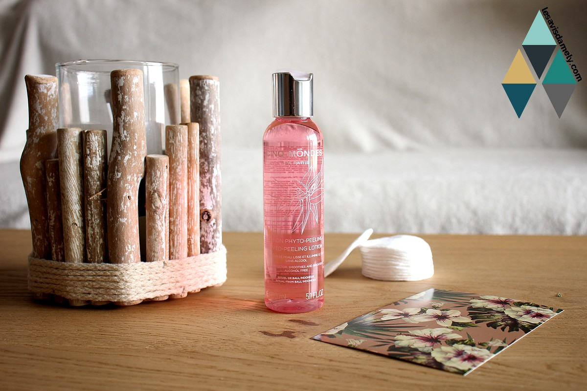 revue beauté lotion visage phyto peeling cinq mondes naturel soin