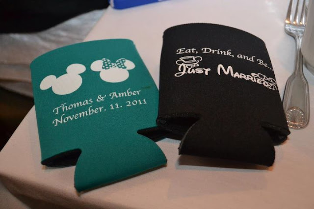 At Home Disney Wedding - Eat, Drink, and Be Just Married Koozies