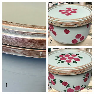 Decorate old plastic containers with roses and Metallic lustre