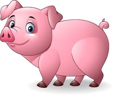 Gambar babi kartun lucu