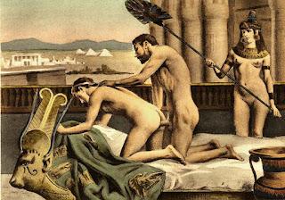 Hoàng đế Hadrian quan hệ nam nam với người tình, tranh thế kỷ 19 của Paul Avril