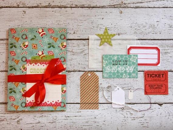 Christmas Card Mini Album | iloveitall.etsy.com