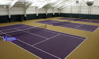 Contoh Foto Lapangan Bola Tenis Indoor (Dalam Ruangan)
