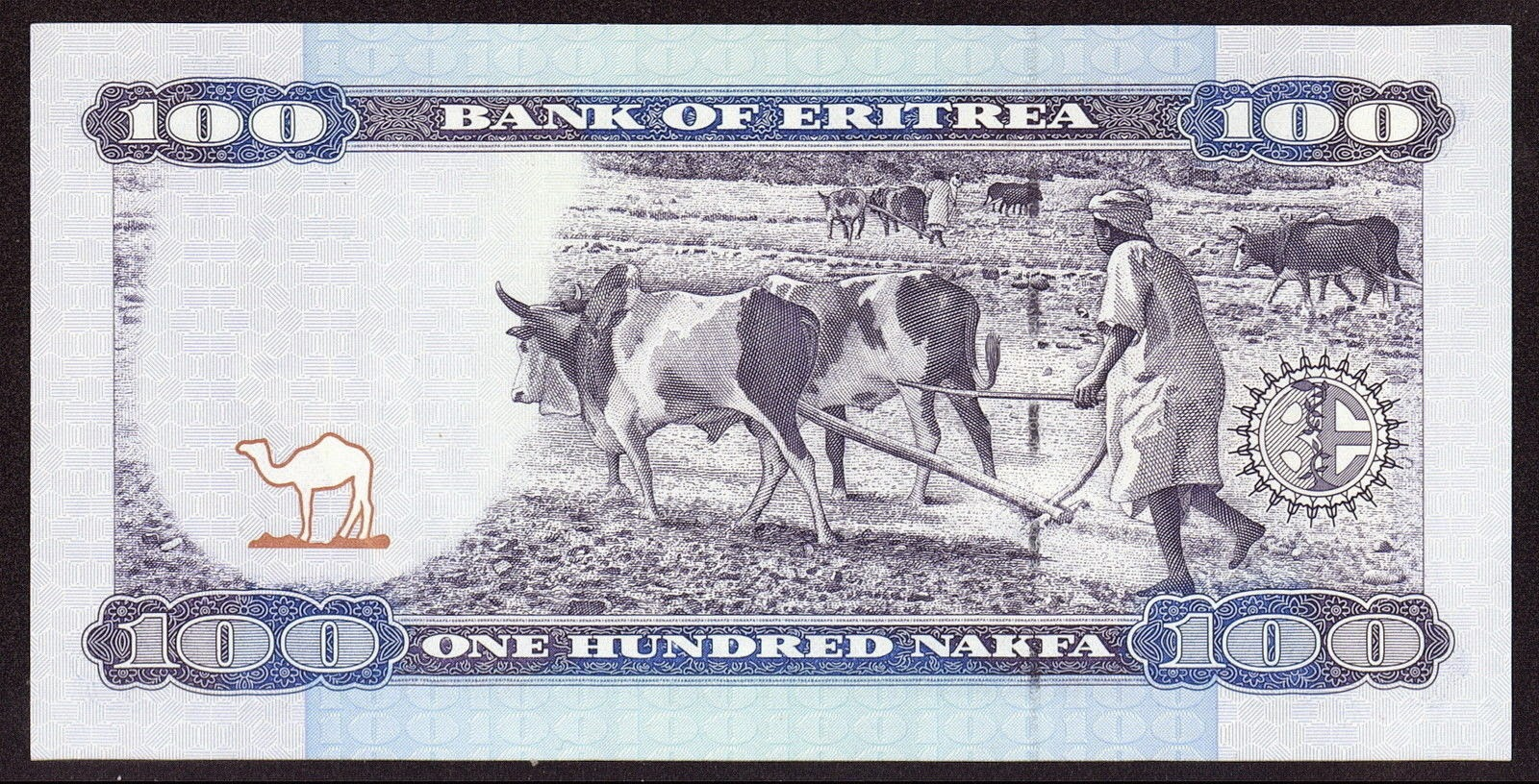 Currency of Eritrea 100 Nakfa Note