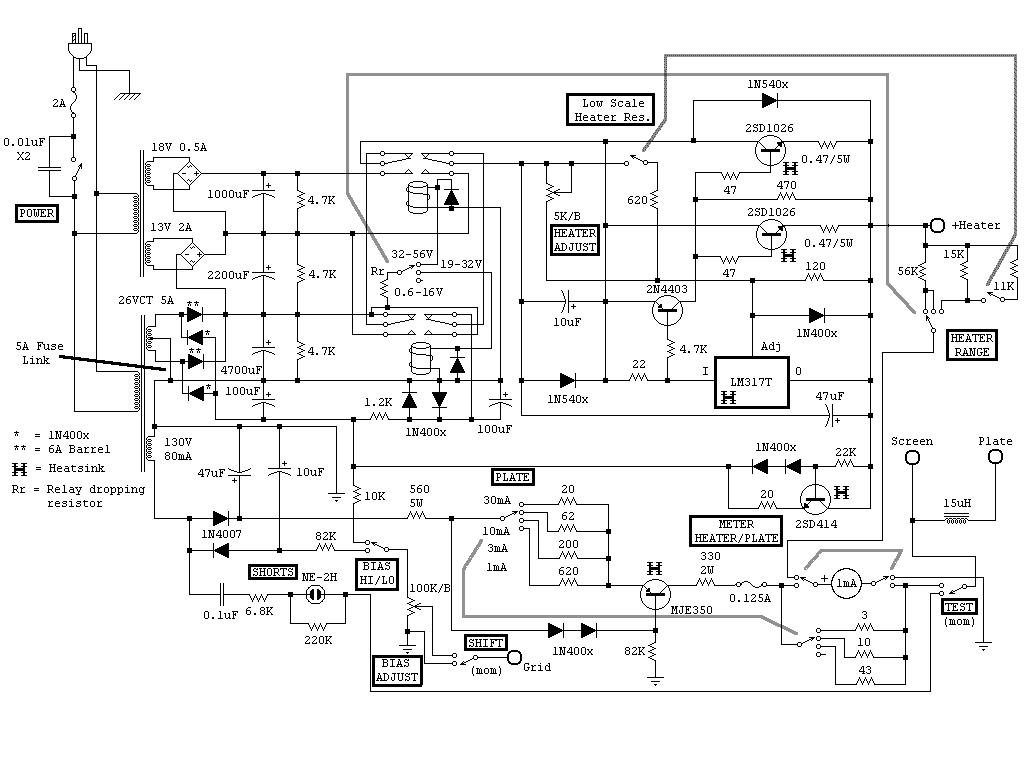 radio linear amplifier schematics ham