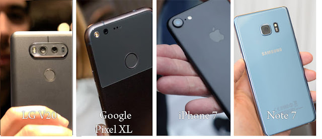 Uji Hasil Foto Google Pixel XL vs iPhone 7 Plus vs LG V20 vs Note 7 - menang mana?
