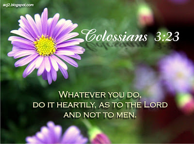 do it heartily as to the lord