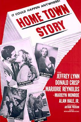Póster película Home Town Story