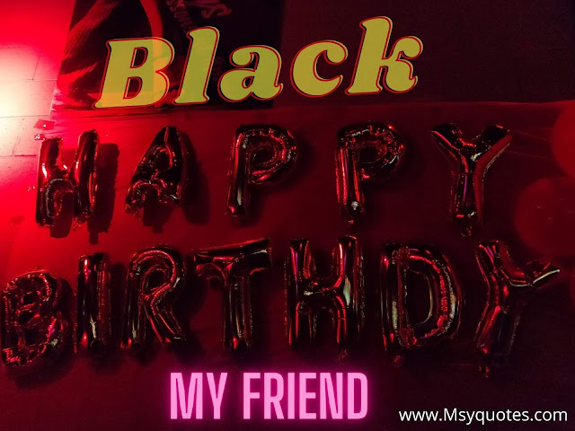 Black Happy Birthday Wishes For A Brother Dost