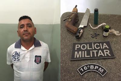 Brejo: Policiais Militares recuperam objetos furtados e prendem o autor do crime e arma de fogo