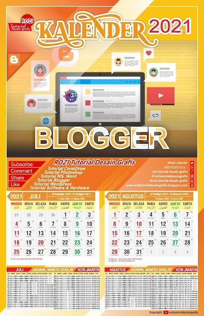 Free Kalender CDR : Download Template Kalender 2021 CDR ...