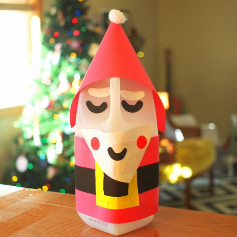 Santa milk jug craft
