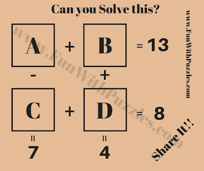 Maths Riddle Worksheet