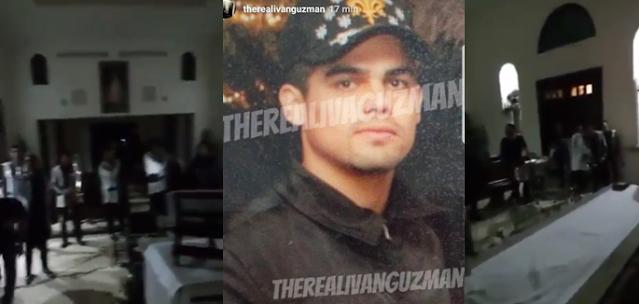 VIDEO + FOTOS; 'El Chapito' se pone sentimental y recuerda a su hermano asesinado con foto y narcocorrido adornan cenotafio
