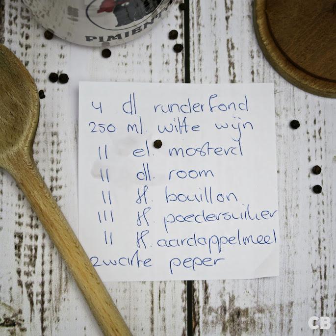 De ingrediëntenlijst is klaar!