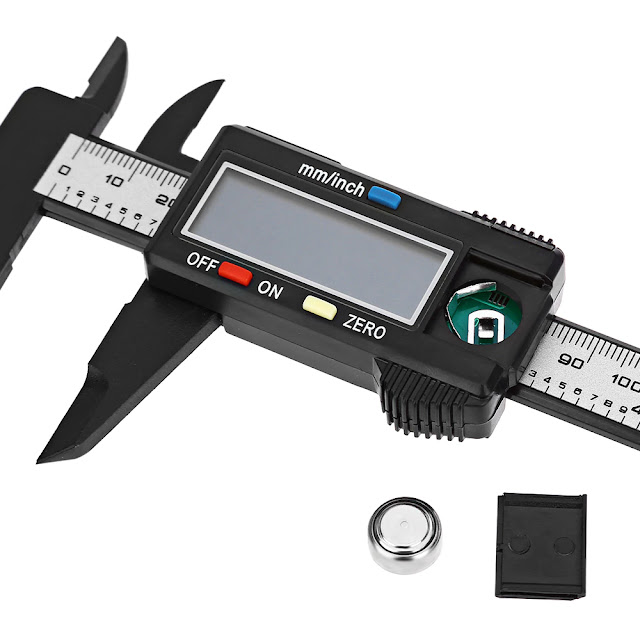 Coupon 150mm 6 inch LCD Digital Caliper Carbon Fiber Vernier