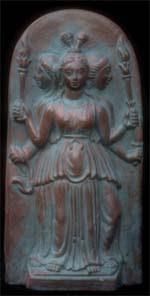 Hekate Triformis, public domain image