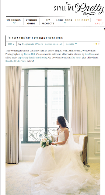 Featured Wedding, Style Me Pretty, St Regis, New York