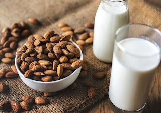 Milk, badam and milk, badam milk