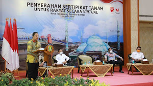 500 Sertifikat Tanah Diterbitkan Untuk Warga Kota Tangerang
