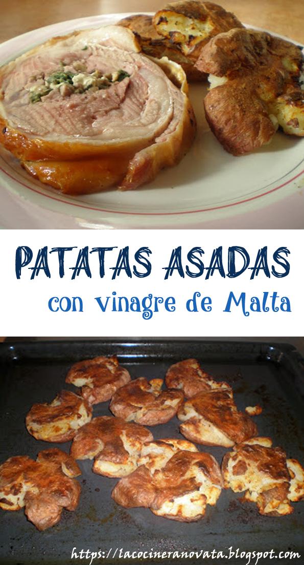PATATAS ASADAS CON VINAGRE DE MALTA la cocinera novata vegetariana vegana