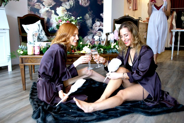 Galentine's Day at Stole My Heart - lingerie shop Toronto, Fancy Pufs, Wild North Florals