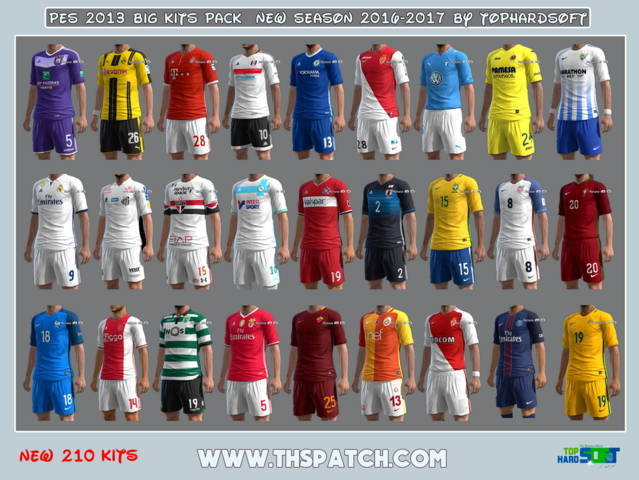 PES 2013 Big Kits Pack New Season 2016-2017