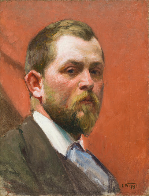 Edward Henry Potthast, Self Portrait, Portraits of Painters, Fine arts, Painter Edward Henry
