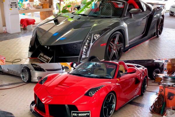 PS Modify Toyota MR2 Lamborghini Veneno Ferrari LaFerrari